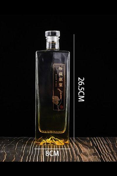 新款晶白料酒瓶-003