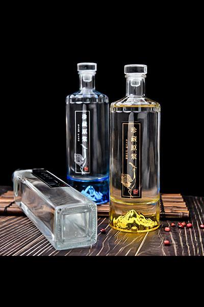 新款晶白料酒瓶-013