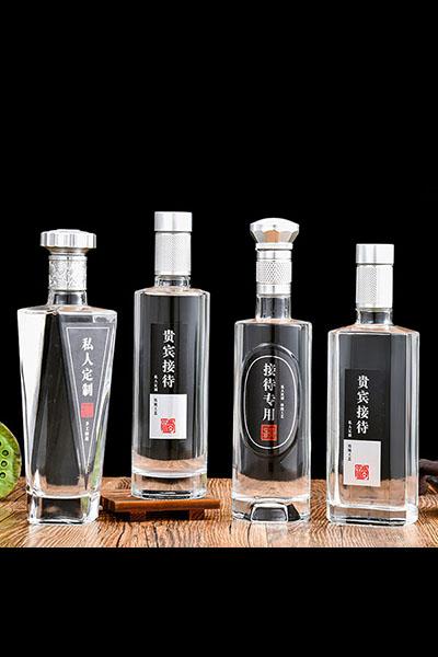 新款晶白料酒瓶-015